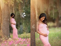 maternity photo props dusty pink lace maternity gown mermaid slim fit