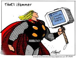 henry payne cartoon thor s hammer
