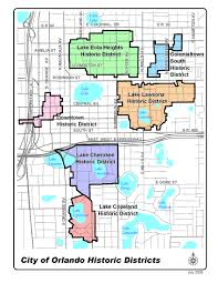 Florida Orlando Map by Historic Preservation Districts City Of Orlando City Planning