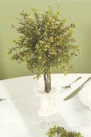 Topiaries Wedding - centerpieces done with all paper dogwood blooms and branches
