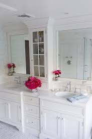 White Vanities Bathroom White Bathroom Vanity Bathroom Traditional With Bathroom Storage