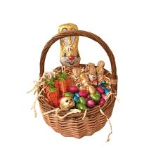 easter egg hunt baskets easter egg hunt in a wicker basket with chocolate bunny and easter