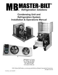 remote condensing unit manual master bilt