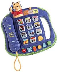 vtech winnie the pooh teach n lights phone toys