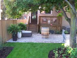 garden design with diy backyard landscaping and wood patio ideas