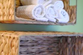 diy bathroom towel storage in under 5 minutes making lemonade