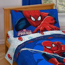 amazon com marvel spiderman u0027regulator u0027 toddler 4 piece bed set