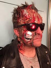 Terminator Halloween Makeup Terminator 2 Make Up Terminator T2 Theterminator Arnold