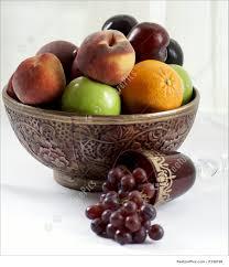 Fruit Bowl Fruit Bowl With Wine Glass Photo