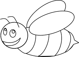 bees clipart outline pencil and in color bees clipart outline