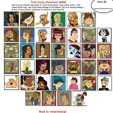 Meme Characters List - total drama characters meme by kiwirawr on deviantart