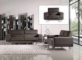 italian design grey fabric sofa set