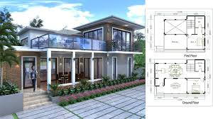 2 story home plans sketchup 2 story home plan 13 3mx9m with 2 bedroom