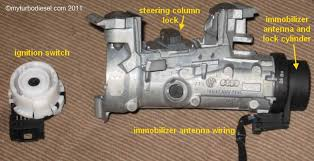 ignition switch and lock cylinder removal and repair on vw and