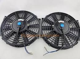 10 inch radiator fan 2pcs 10 inch universal 12v pull push car radiator engine
