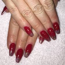 red and silver glitter nail designs red nails with silver glitter
