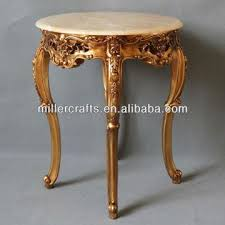 french style side table high feet golden leaf finish side table french style coffee table