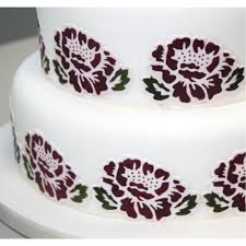 patchwork cutters open rose cake stencil u0026 icing cutter set