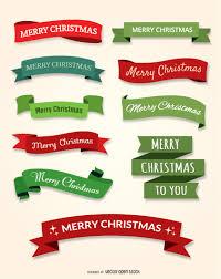 christmas ribbon 10 merry christmas ribbon set vector