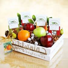 fruit and nut gift baskets fruit and nuts crate gift basket california delicious