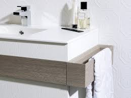 wall hung washbasin cabinet wood veneer contemporary