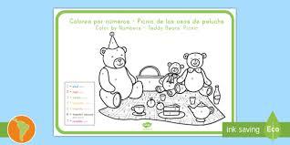 teddy bears u0027 picnic color numbers spanish latin english