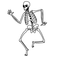 skeleton dancing coloring pages coloringstar