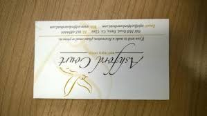 Hotel Business Card Ashford Court Business Card A Picture Of Ashford Court Boutique
