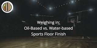 based poly vs water based sports floor finish city floor supply