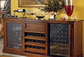 Nightstand Siena Wine Credenza Walnut With Refrigerator Awesome Mini Fridge Bar Cabinet