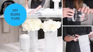 diamond mesh ribbon diy bling vase rhinestone mesh ribbon wedding tutorial