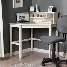 White L Shaped Desk With Hutch Furniture Simple Corner Desk With Hutch And Swivel Chair Design