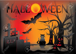 black trees for halloween halloween card with cat owl bats trees royalty free cliparts