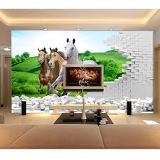 online get cheap horse family aliexpress com alibaba group 3d murals wallpaper stickers living room tv background grassland horse scenery family diy art room adhesive 2016 wall papers 272