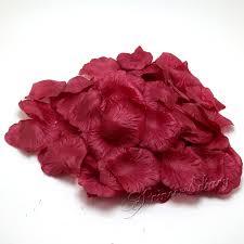 Silk Rose Petals 500pcs Lot Dark Red Color Silk Rose Petals Flower Wedding Banquet