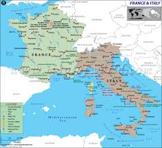 Italy Time Zone Map by Of France And Italy