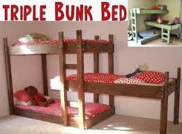 DIY Space Saving Triple Bunk Bed Free Plan Tutorial - Space saver bunk beds