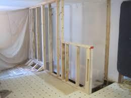 framing basement stair first floor walls home improvement blog