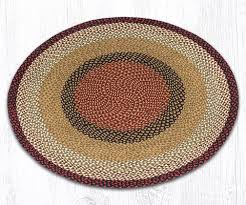 Round Burgundy Rug Jute Braided Rugs Round The Braided Rug Place