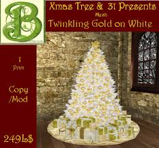 second marketplace gold ornaments on white tree