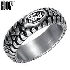 style steel rings images Hip punk ford car tire tread style grooved ring vintage casting jpg
