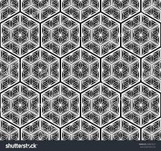 seamless tiled pattern japanese traditional lattice stock vector