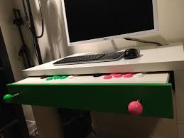 Slim Computer Desk Micke Computer Desk Arcade Stick Hack Ikea Hackers