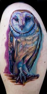 30 wonderful colorful owl tattoos ideas