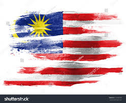 Flag Day Images Malaysia Flag Painted On White Paper Stock Foto 120390790