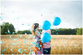 gender reveal balloons gender reveal baby meredith allyn photography