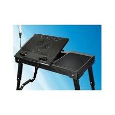 lap desk with fan portable folding laptop bed stand table tray lap desk w fans
