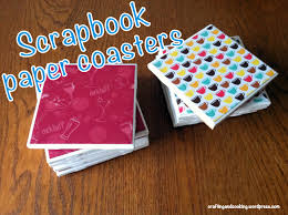 Diy Coasters Diy Scrapbook Paper Coasters Crafting And Cooking