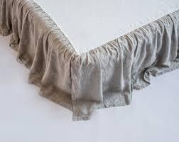 King Single Bed Valance Linen Bed Skirt Etsy