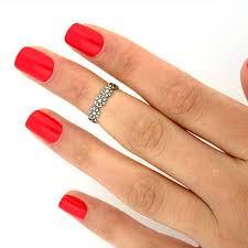 toe finger rings images Silver plated daisy flower toe ring finger tip ring adjustable jpg